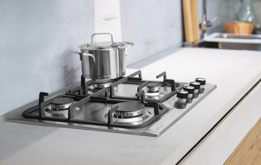 Stainless steel surfaces ensure durability